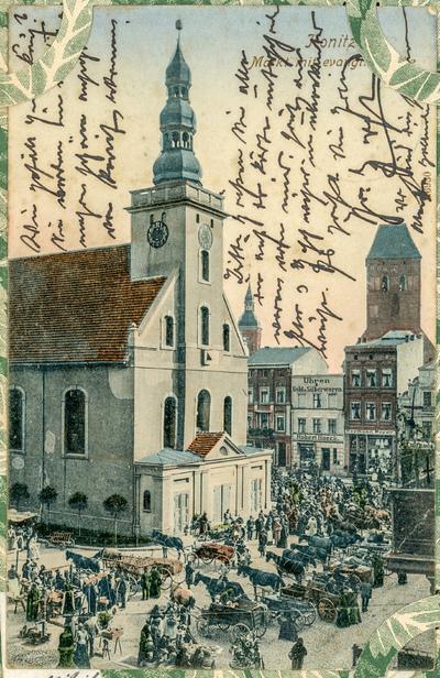 Konitz. Markt mit Evang. Kirche