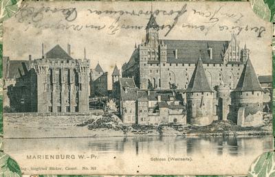 Marienburg W.-Pr. Schloss (Westseite)