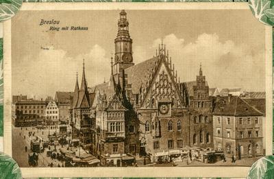 Breslau. Ring mit Rathaus