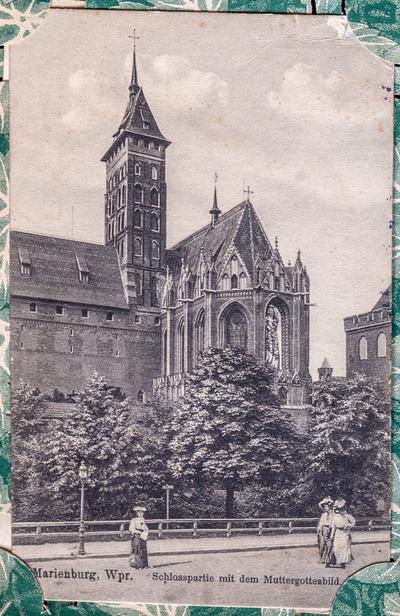Marienburg, Wpr. Schlosspartie mit dem Muttergottesbild