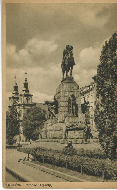 Kraków. Pomnik Jagiełły.