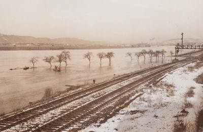 Hochwasser 1955 an der Mosel