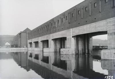 Bau Wehranlage Staustufe Kachlet/Donau