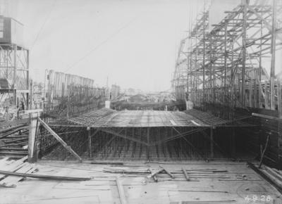 Straßentunnelanlage Glindenberg/Elbe im Bau