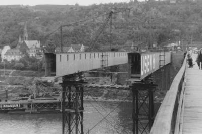 Aufbau Pfaffendorfer Brücke Koblenz/Rhein