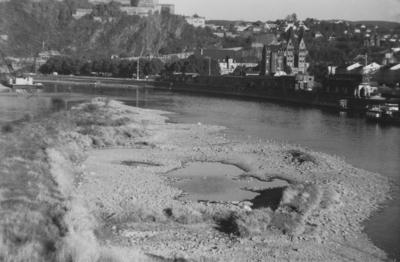 Niedrigwasser an der Mosel Oktober/ 1959