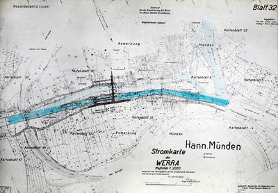 Planung der Staustufe Hannoversch Münden