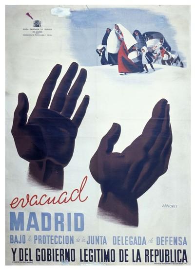 Evacuad Madrid bajo la protección de la Junta Delegada de Defensa y del gobierno legítimo de la República.