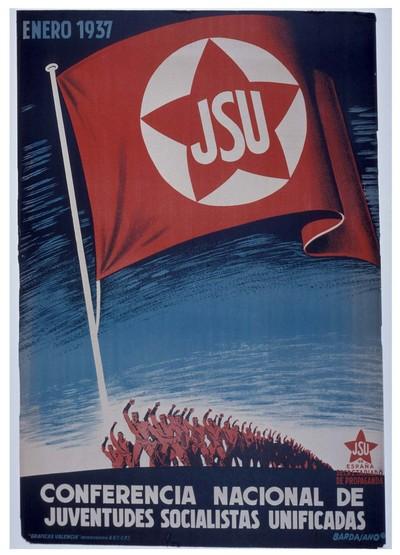 J.S.U. enero 1937. Conferencia nacional de Junventudes Socialistas Unificadas.