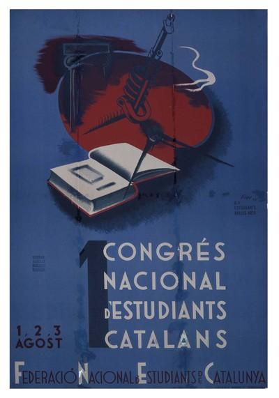 1 [i.e. Primer] Congrés nacional d'estudiants catalans. 1,2,3 Agost.
