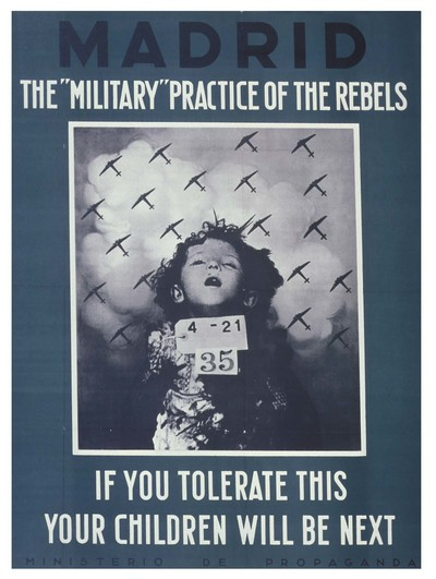 Madrid. The military practice of the rebels. If you tolerate this your children will be next.