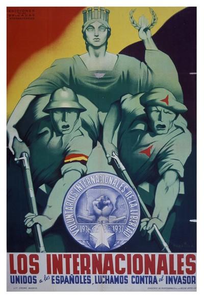 Los internacionales unidos a los españoles luchamos contra el invasor.