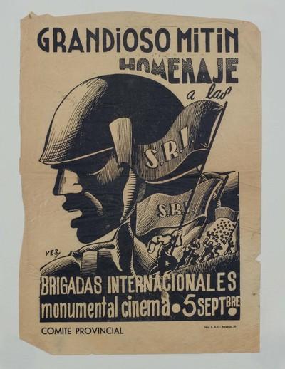 Grandioso mitin homenaje a las Brigadas Internacionales, monumental cinema.