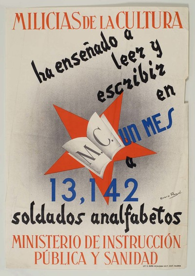 Milicias de la cultura ha enseñado a leer y escribir en un mes a 13,142 soldados analfabetos.