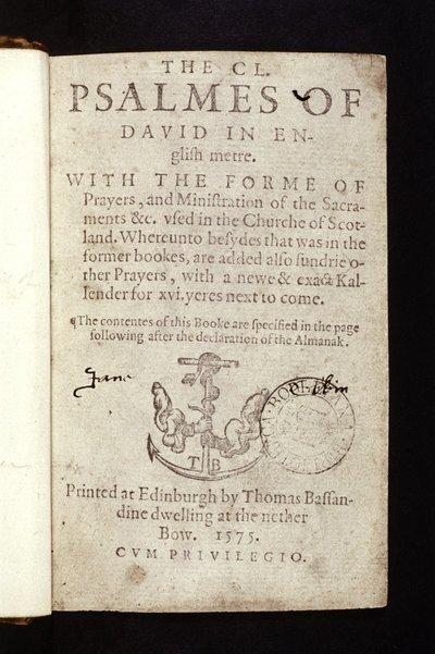 The C.L. psalmes of David in English metre.