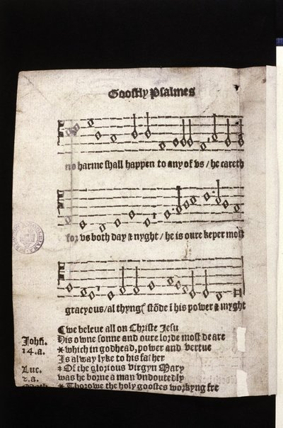 Goostly psalmes and spirituall songes drawen out of holy Scripture.