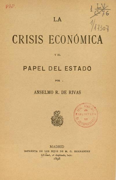 La crisis económica y el papel del estado