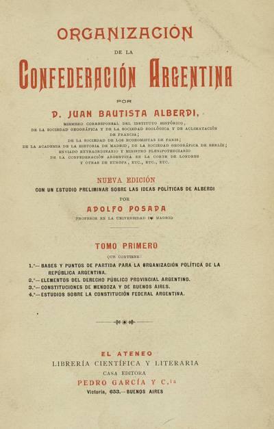 Organización de la Confederación Argentina