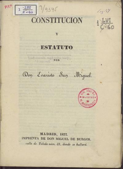 Constitución y estatuto