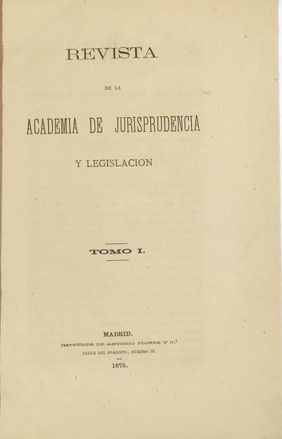Revista de la Academia de Jurisprudencia y Legislación