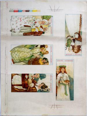 1200-tal Luciabruden, 1300-tal Jullekar, 1600-tal Julölet, Rococo Julbalen, 1830-tal Julklappen