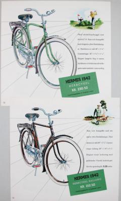 Hermes Herrcykel KR. 230:50 Omsättningsskatten är inräknad i priset. Hermes Herrcykel Ballong KR. 212:50 Omsättningsskatten är inräknad i priset