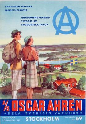 A/B Oscar Ahrén Hela Sveriges varuhus Stockholm. Katalog nr 69. Våren och sommaren 1942.