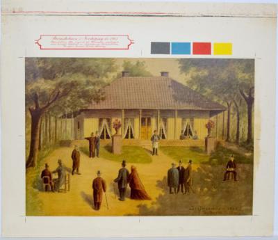 Strömsholmen i Norrköping år 1863