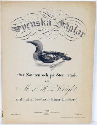 Svenska Fåglar efter Naturen och på Sten ritade