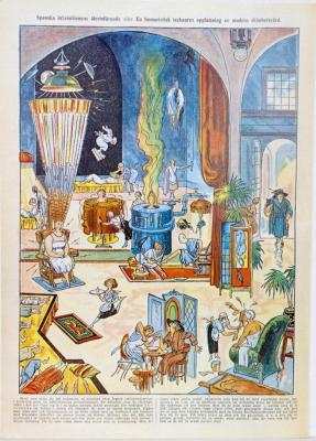 Spanska inkvisitionens återinförande eller En humoristisk tecknares uppfattning av modern skönhetsvård.