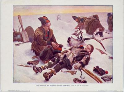 Tirén, Johan, Efter snöstorm: död lappgosse och hans gamla mor