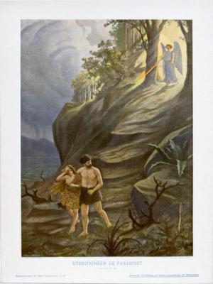 Utdrifningen ur Paradiset 1. Mos. 111, 21-24.