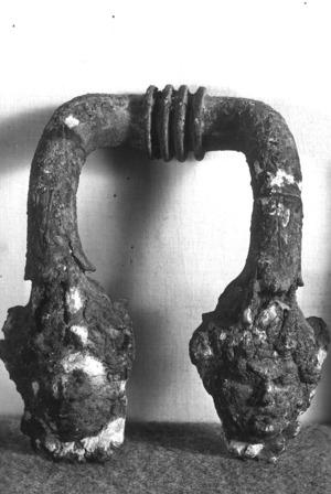 Nansa de bronze d'època romana.