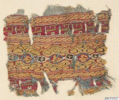bård, vävnad, fragment