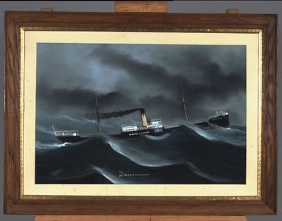 gouache, fartygsporträtt, fartygsmålning, målning, MANNINGHAM [ss]
