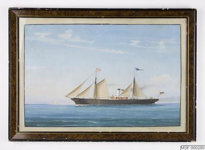 fartygsporträtt, akvarellmålning, ALEXANDER II [ss]