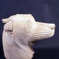 Cabeza de lobo. Conjunto escultórico de El Pajarillo (Huelma, Jaén, España).