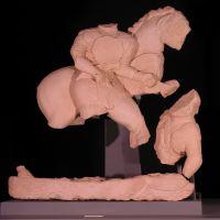 Jinete alanceando al enemigo. Conjunto escultórico de Cerrillo Blanco (Porcuna, Jaén, España).