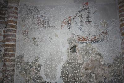 Pinturas murales. Castillo de Jimena (Jaén, España)