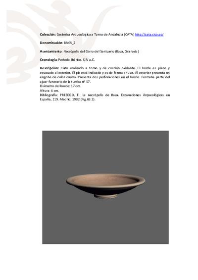 3D PDF de BA68_2. Recipiente cerámico procedente de la necrópolis ibérica del Cerro del Santuario (Baza, Granada)