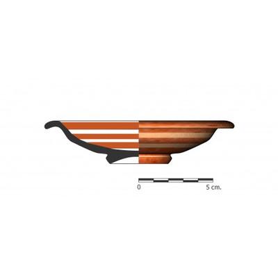Imagen en color, BO4_1.  Recipiente cerámico procedente de la necrópolis ibérica de La Bobadilla (Alcaudete, Jaén)