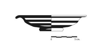 Imagen en blanco y negro, BO4_2. Recipiente cerámico procedente de la necrópolis ibérica de La Bobadilla (Alcaudete, Jaén)