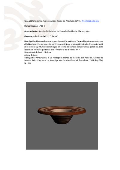 3D PDF de LP11_1. Recipiente cerámico procedente de la necrópolis ibérica de Loma de Peinado (Casillas de Martos, Jaén)