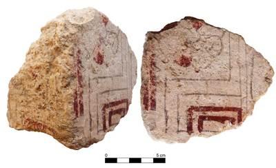 Urna funeraria 76044 (vista lateral y frontal). Sepultura 76. Necrópolis de Tútugi (Galera, Granada, España)