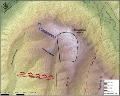 Campo de la batalla de Baecula, Cerro de las Albahacas (Santo Tomé-Cazorla, Jaén, España)