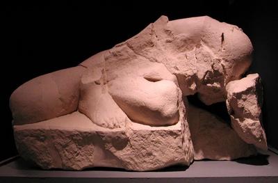 Guerrero caído. Conjunto escultórico de Cerrillo Blanco (Porcuna, Jaén, España).