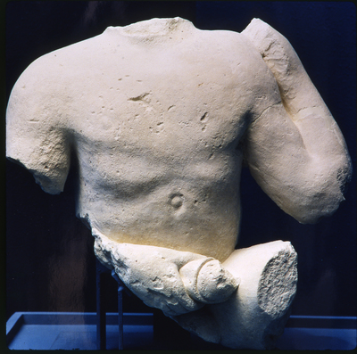 Torso fálico. Conjunto escultórico de Cerrillo Blanco (Porcuna, Jaén, España).