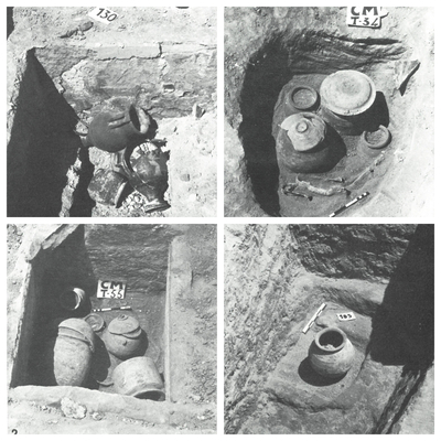 Tumbas 130, 34, 55, 105 de la necrópolis de cerro del Santuario (Baza, Granada, España)