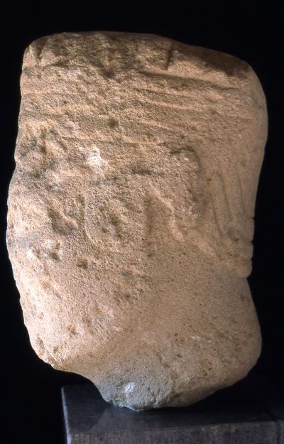 Escultura antropomorfa procendente del oppidum ibérico de Úbeda la Vieja (Úbeda, Jaén, España)