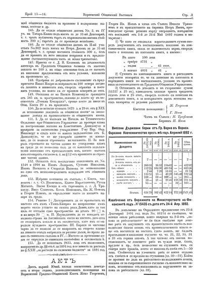 Извлечение от Окръжното на Министерството на Финансиите под N 15435 с дата от 24-й Апр. 1892